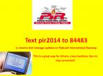 pir txt updates